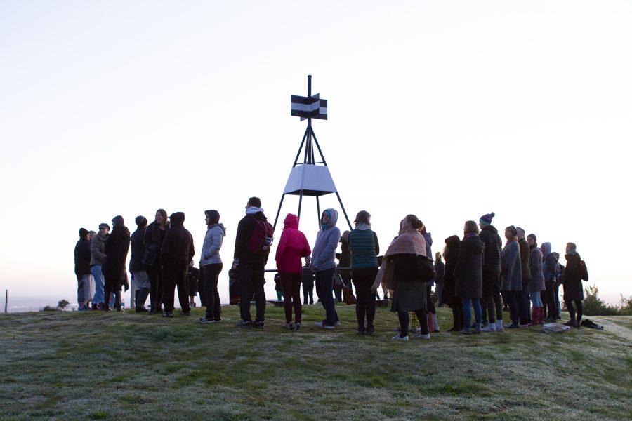 Group on top of Pukematekeo
